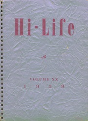 1939 Edition, Washington High School - Hi Life Yearbook (Washington, IA)