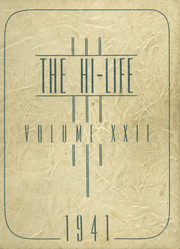 1941 Edition, Washington High School - Hi Life Yearbook (Washington, IA)