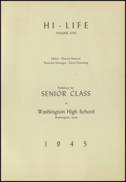 Page 13, 1945 Edition, Washington High School - Hi Life Yearbook (Washington, IA) online yearbook collection