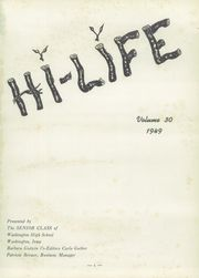 Page 5, 1949 Edition, Washington High School - Hi Life Yearbook (Washington, IA) online yearbook collection