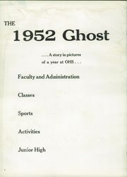 Page 8, 1952 Edition, Oelwein High School - Ghost Yearbook (Oelwein, IA) online yearbook collection