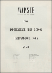 Page 5, 1955 Edition, Independence High School - Wapsie Yearbook (Independence, IA) online yearbook collection