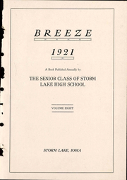 Page 7, 1921 Edition, Storm Lake High School - Breeze Yearbook (Storm Lake, IA) online yearbook collection
