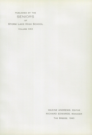 Page 7, 1943 Edition, Storm Lake High School - Breeze Yearbook (Storm Lake, IA) online yearbook collection