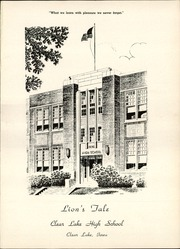 Page 5, 1955 Edition, Clear Lake Community High School - Lions Tale Yearbook (Clear Lake, IA) online yearbook collection
