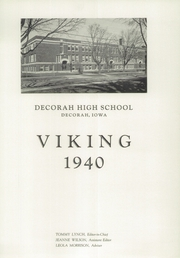 Page 7, 1940 Edition, Decorah High School - Viking Yearbook (Decorah, IA) online yearbook collection