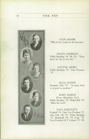 Page 16, 1919 Edition, Red Oak High School - Pep Yearbook (Red Oak, IA) online yearbook collection