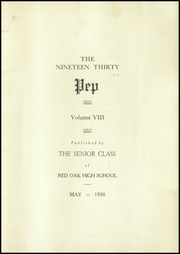 Page 7, 1930 Edition, Red Oak High School - Pep Yearbook (Red Oak, IA) online yearbook collection