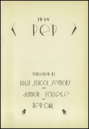 Page 5, 1934 Edition, Red Oak High School - Pep Yearbook (Red Oak, IA) online yearbook collection