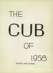 Page 7, 1958 Edition, Nevada High School - Cub Yearbook (Nevada, IA) online yearbook collection