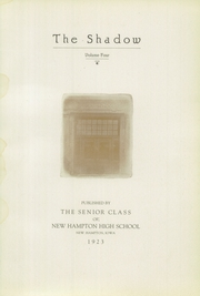 Page 7, 1923 Edition, New Hampton High School - Shadow Yearbook (New Hampton, IA) online yearbook collection