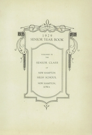 Page 7, 1929 Edition, New Hampton High School - Shadow Yearbook (New Hampton, IA) online yearbook collection