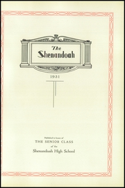Page 7, 1931 Edition, Shenandoah High School - Shenandoah Yearbook (Shenandoah, IA) online yearbook collection
