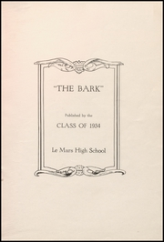 Page 5, 1934 Edition, Le Mars Community High School - Bark Yearbook (Le Mars, IA) online yearbook collection