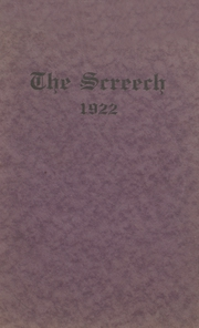 1922 Edition, Albia Community High School - Screech Yearbook (Albia, IA)