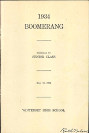 Page 3, 1934 Edition, Winterset High School - Boomerang Yearbook (Winterset, IA) online yearbook collection