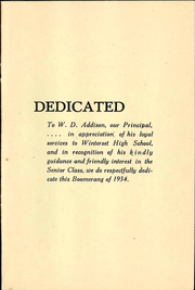 Page 5, 1934 Edition, Winterset High School - Boomerang Yearbook (Winterset, IA) online yearbook collection