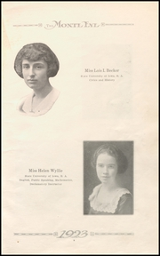 Page 13, 1923 Edition, Monticello High School - Panther Yearbook (Monticello, IA) online yearbook collection