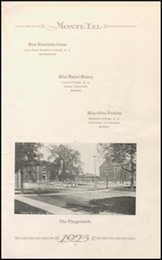Page 15, 1923 Edition, Monticello High School - Panther Yearbook (Monticello, IA) online yearbook collection