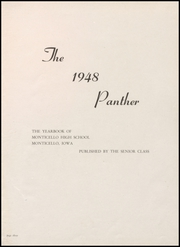 Page 7, 1948 Edition, Monticello High School - Panther Yearbook (Monticello, IA) online yearbook collection