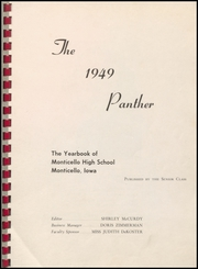 Page 3, 1949 Edition, Monticello High School - Panther Yearbook (Monticello, IA) online yearbook collection