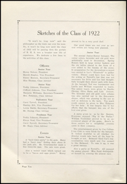 Page 14, 1922 Edition, Belmond High School - Bronco Yearbook (Belmond, IA) online yearbook collection