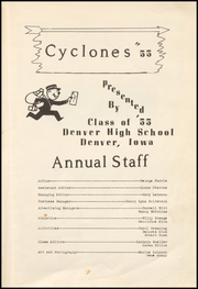 Page 7, 1955 Edition, Denver High School - Cyclone Yearbook (Denver, IA) online yearbook collection