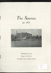 1933 Edition, Grundy Center High School - Spartan Yearbook (Grundy Center, IA)