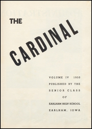 Page 5, 1950 Edition, Earlham High School - Memories Yearbook (Earlham, IA) online yearbook collection