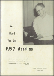 Page 5, 1957 Edition, Aurelia High School - Aurelian Yearbook (Aurelia, IA) online yearbook collection