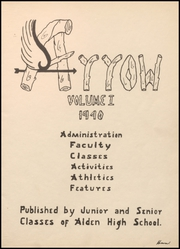Page 5, 1940 Edition, Alden High School - Redskin Yearbook (Alden, IA) online yearbook collection