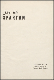 Page 5, 1946 Edition, Cresco High School - Spartan Yearbook (Cresco, IA) online yearbook collection