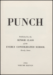 Page 7, 1951 Edition, Everly High School - Punch Yearbook (Everly, IA) online yearbook collection