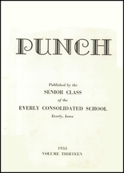 Page 5, 1953 Edition, Everly High School - Punch Yearbook (Everly, IA) online yearbook collection