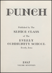 Page 5, 1957 Edition, Everly High School - Punch Yearbook (Everly, IA) online yearbook collection