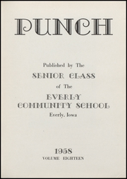 Page 5, 1958 Edition, Everly High School - Punch Yearbook (Everly, IA) online yearbook collection