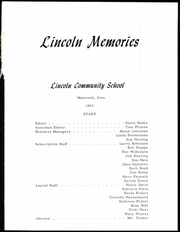 Page 5, 1965 Edition, Lincoln Community High School - Memorial Yearbook (Stanwood, IA) online yearbook collection