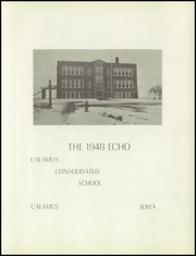 Page 5, 1948 Edition, Calamus and Wheatland High School - Echo Yearbook (Wheatland, IA) online yearbook collection