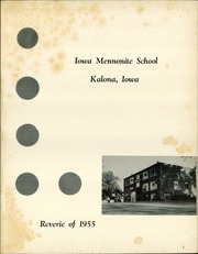 Page 5, 1955 Edition, Iowa Mennonite High School - Reverie Yearbook (Kalona, IA) online yearbook collection