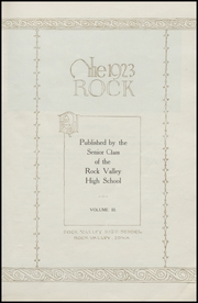 Page 7, 1923 Edition, Rock Valley High School - Rock Yearbook (Rock Valley, IA) online yearbook collection