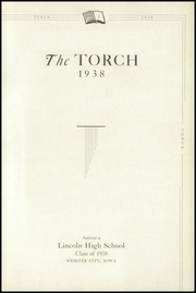 Page 5, 1938 Edition, Lincoln High School - Torch Yearbook (Webster City, IA) online yearbook collection