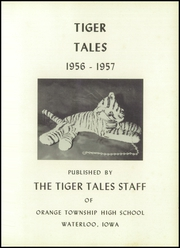Page 5, 1957 Edition, Orange High School - Tiger Tales Yearbook (Waterloo, IA) online yearbook collection