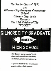 Page 5, 1971 Edition, Gilmore City Bradgate High School - Rocket Yearbook (Gilmore City, IA) online yearbook collection