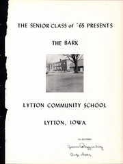 Page 5, 1965 Edition, Lytton Community High School - Bark Yearbook (Lytton, IA) online yearbook collection