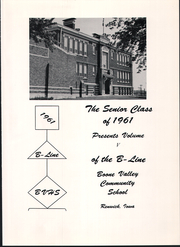 Page 5, 1961 Edition, Boone Valley High School - B Line Yearbook (Renwick, IA) online yearbook collection