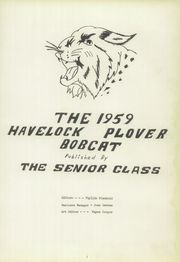 Page 5, 1959 Edition, Havelock Plover High School - Bobcat Yearbook (Havelock, IA) online yearbook collection