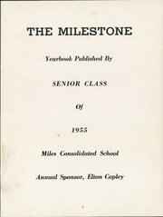 Page 5, 1955 Edition, Miles High School - Milestone Yearbook (Miles, IA) online yearbook collection