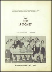 Page 5, 1957 Edition, Roland High School - Rocket Yearbook (Roland, IA) online yearbook collection