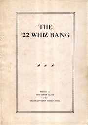 Page 5, 1922 Edition, Grand Junction High School - Whiz Bang Yearbook (Grand Junction, IA) online yearbook collection