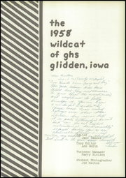 Page 5, 1958 Edition, Glidden High School - Wildcat Yearbook (Glidden, IA) online yearbook collection